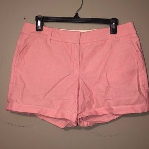 "Pastel pink chino shorts ""4"" inseam"